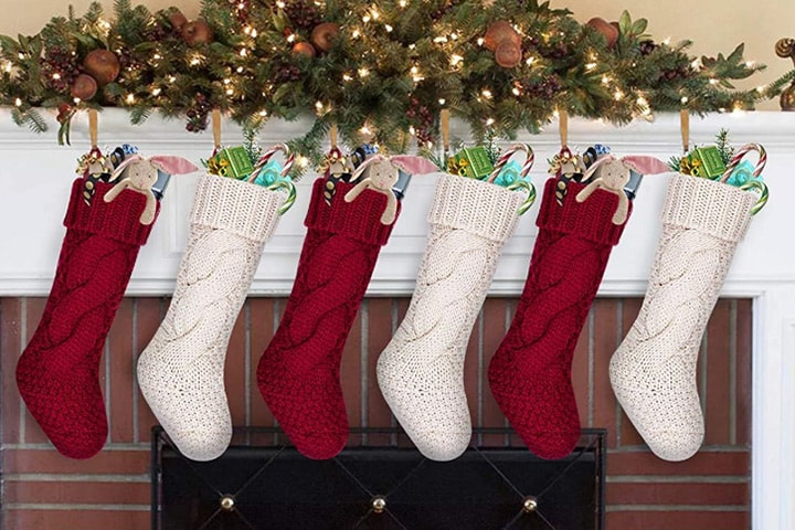 Strikkede julestrømper 6-pack