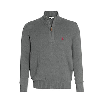 Anthracit, L, US Polo Zip Troyer Pullovers, US Polo, zip-modell, ,