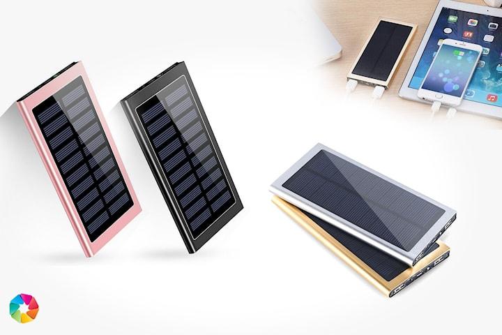 Powerbank med solcellepanel