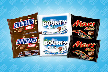 Små sjokolader: Snickers, Bounty og Mars minis