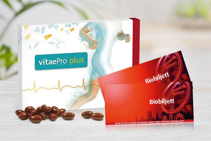 50% rabatt på VitaePro Plus de 2 första månaderna + 2 biobiljetter