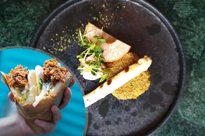 Vegetarisk 3-rätters middag inkl. cava hos Friends Table
