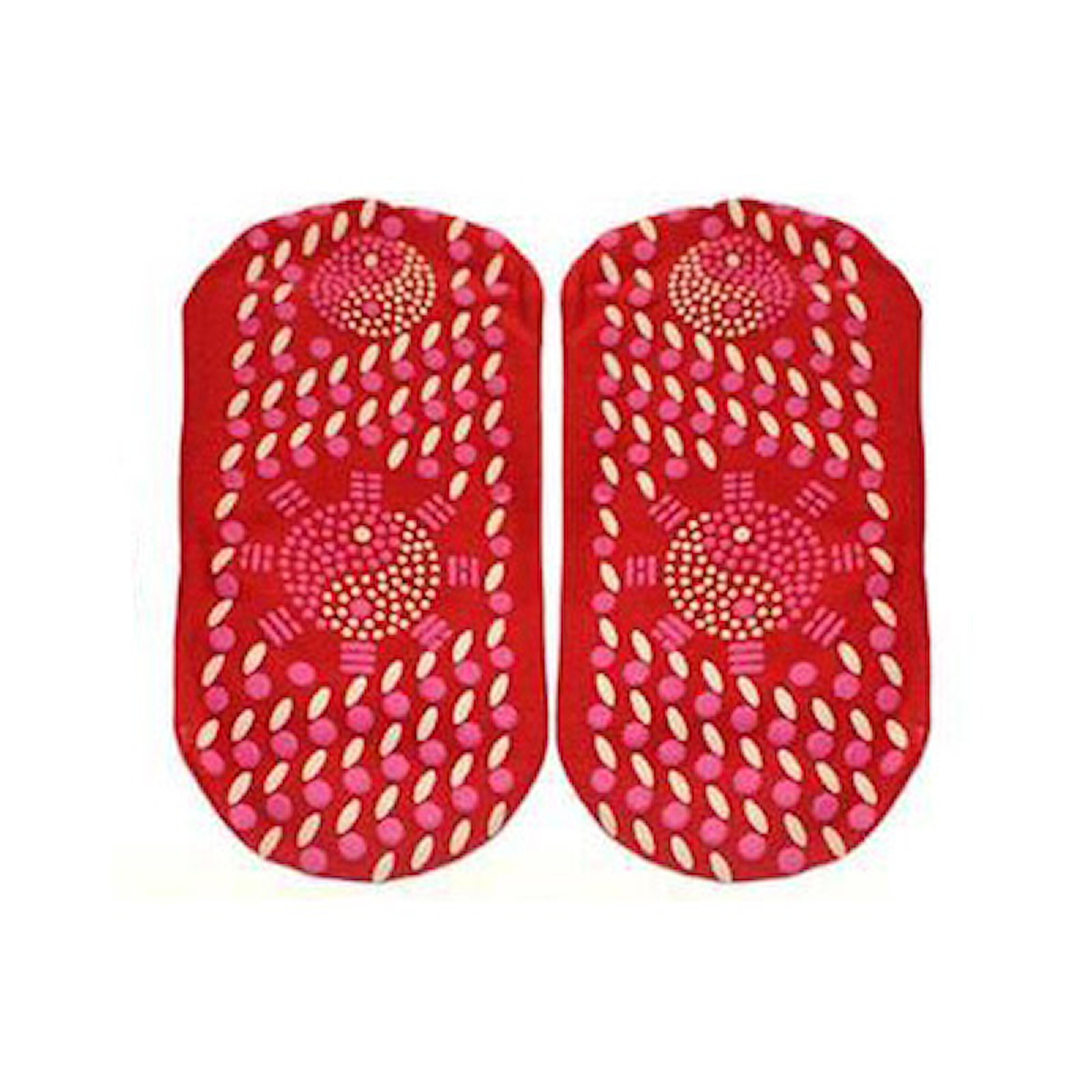 Röd, Self Heating Health Socks, Turmalin-sockor, ,