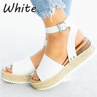 Hvit, 35, Women Platform Sandals, , ,