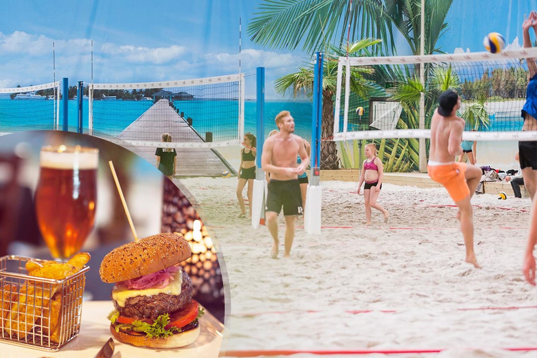 Beach volley, quiz och burgare på Beach Center (1 av 7)