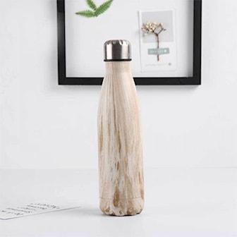 Hvit/Lysebrun, Stainless Water Bottle, Drikkeflaske i rustfritt stål, ,