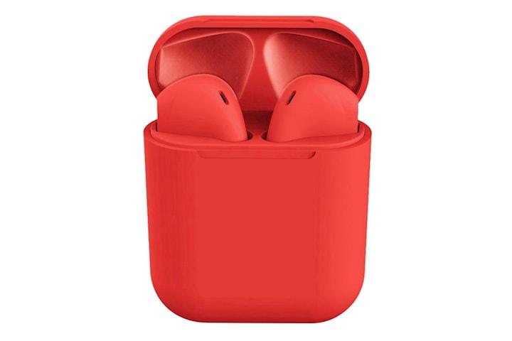 i12 Macaron Trådløse Hodetelefoner - Rød