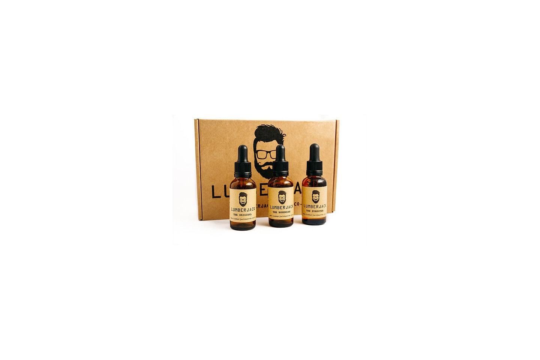 3-pack skäggoljor från Lumberjack Beards