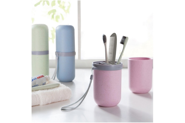 Portabel tandborsthållare