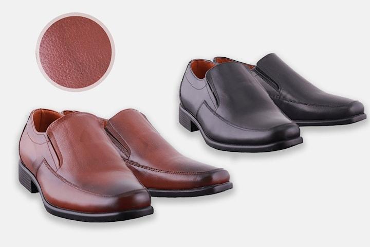 Loafers i läder