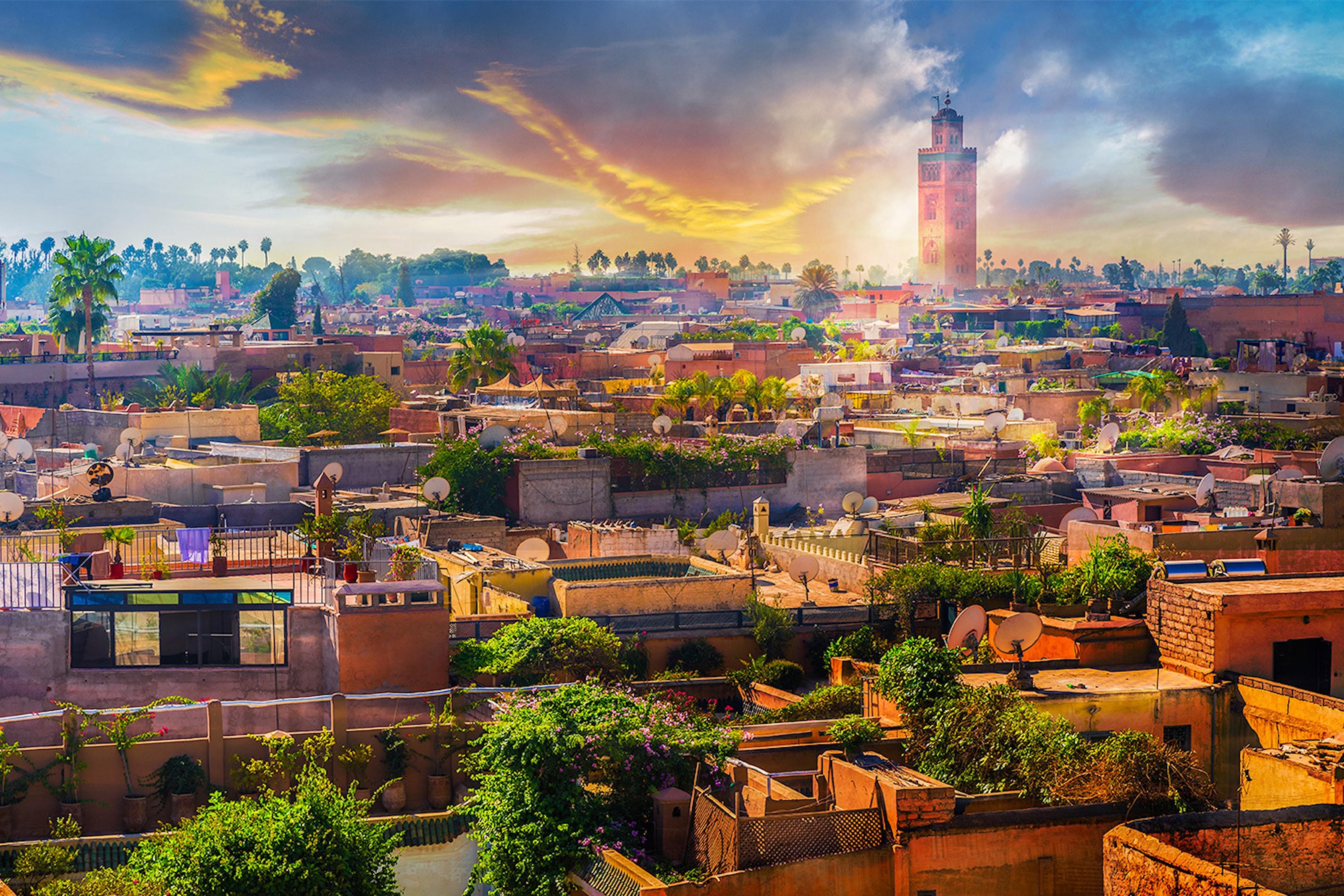 Fly tur/retur fra Oslo til Marrakech &syv netter i dobbeltrom på 4* hotell inkl. frokost