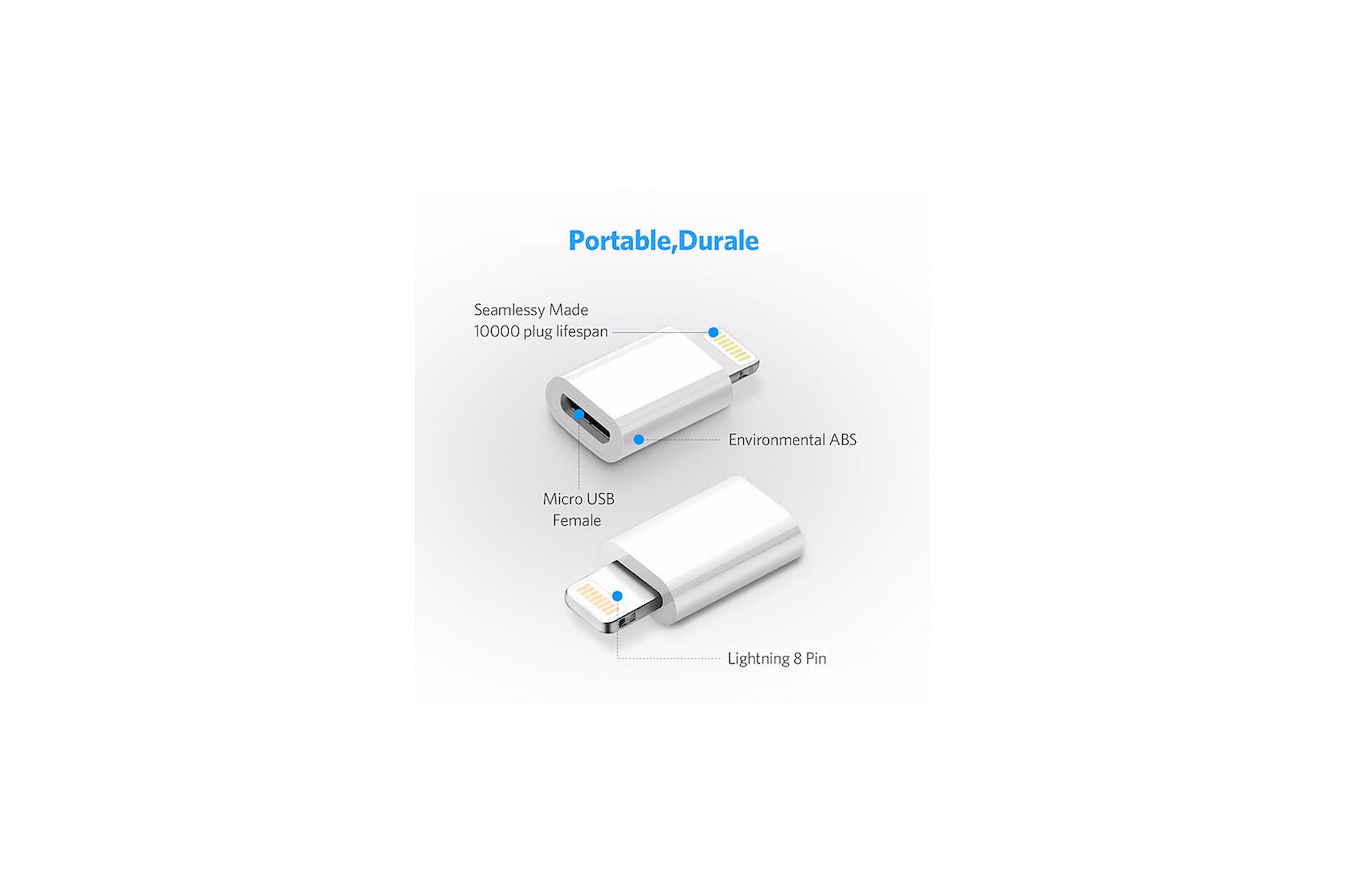 Lightning adapter for micro USB
