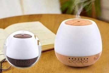 Aromaterapi luftfukter med Bluetooth høyttaler