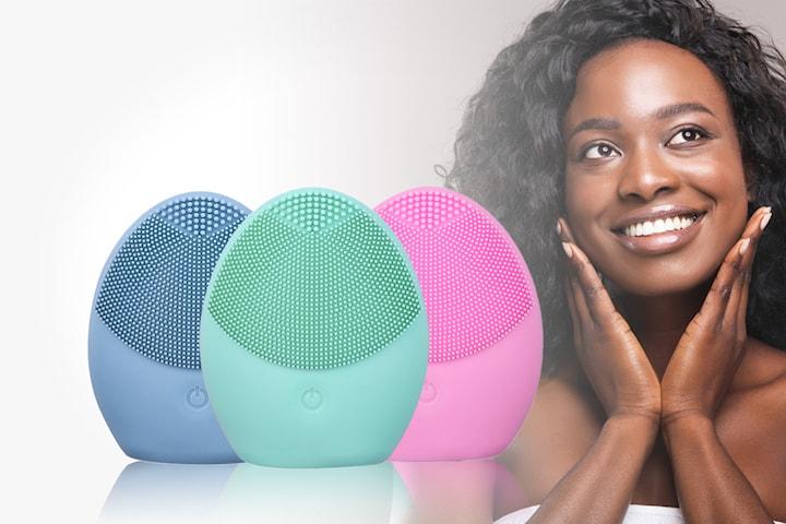 Vibrerande ansiktsrengörare i silikon