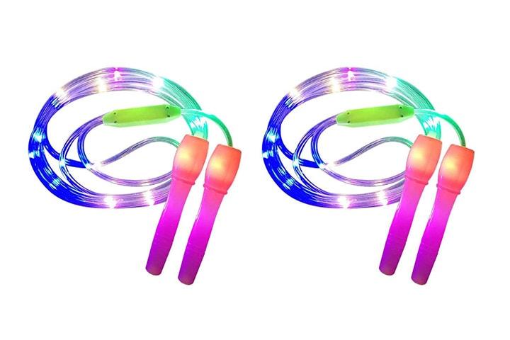 LED-hoppetau 2-pack