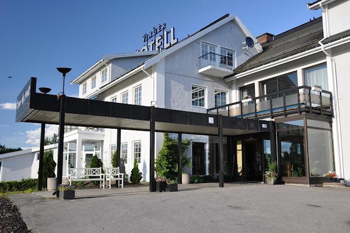 Overnatting for to personer inkl. frokost og 2-retters middag på Vinger Hotell & Spa