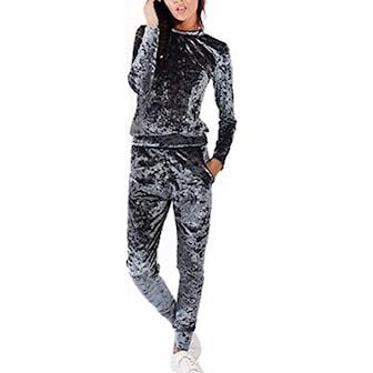 Grå, M, Jumpsuit, Sett med genser og bukse, ,