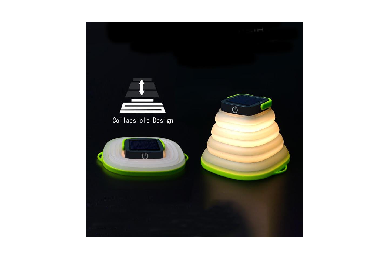 Sammenleggbar soldrevet lampe