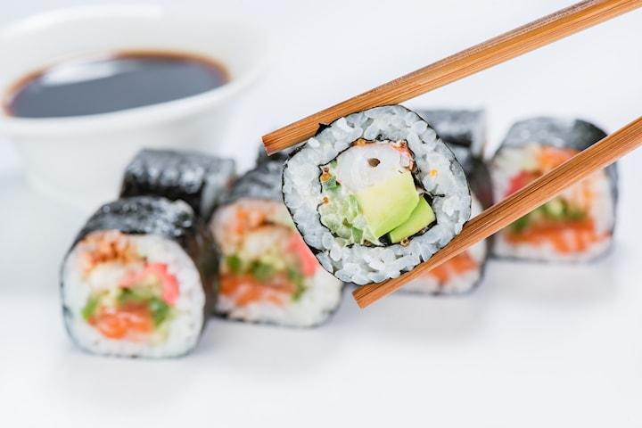 Sushi 10 bitar från Bao & Roll på Avenyn