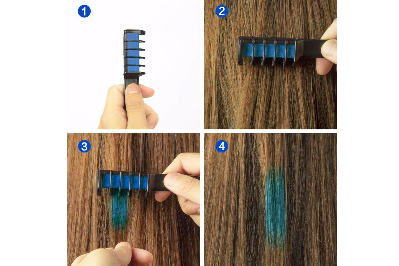 6-pack hårfärgskritor