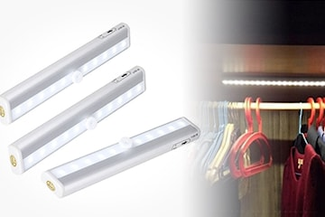 Batteridriven garderobslampa