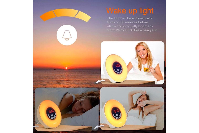 Wake-up light med vekkerklokke
