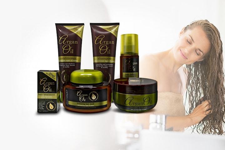 6-pack skönhetsprodukter med arganolja