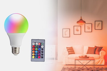 Fjernstyrt LED-lyspære med dimmer