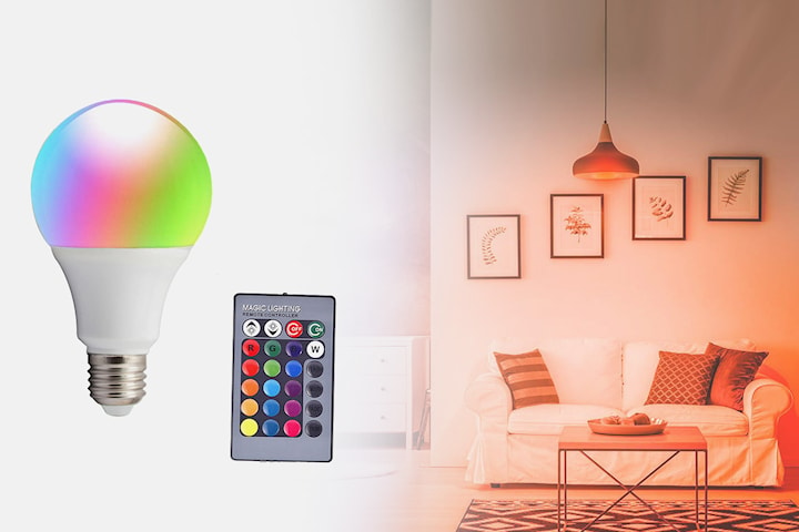 Fjärrstyrd LED-lampa med dimmer