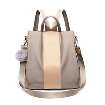 Beige, Women Waterproof Travel Anti-theft Backpack, Ryggsäck i snygg design, ,