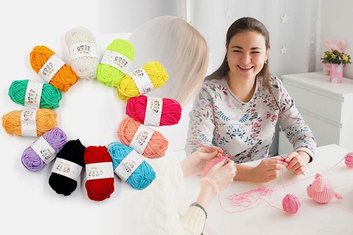Garn 12- eller 24-pack i olika färger