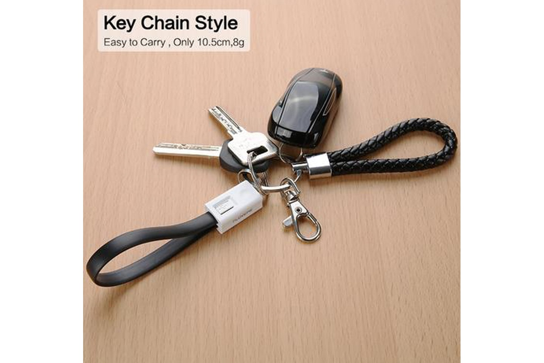 Laddningskabel med nyckelring