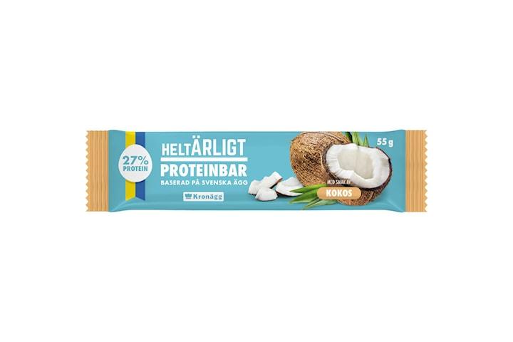 Helt Ärligt, Proteinbar på Ägg - Kokos (20x55g)