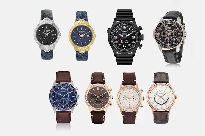 Klockor från välkända varumärken