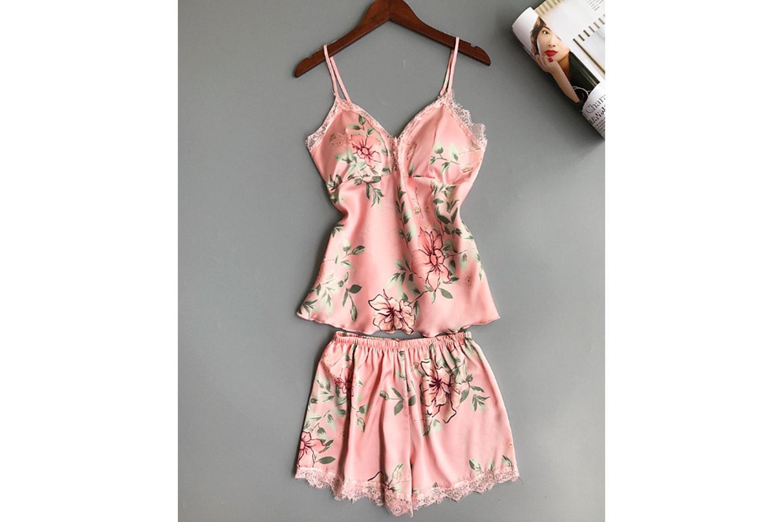 Blommigt pyjamasset