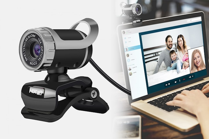 HD webbkamera med 360 graders vinkel