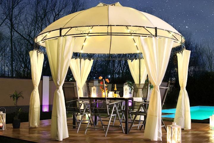Swing & Harmonie Lavo trädgårdspaviljong med LED-ljus