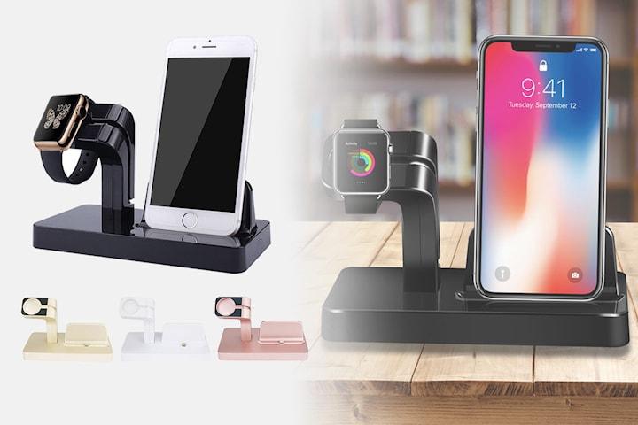 2-i-1 ladestasjon for Apple Watch og iPhone
