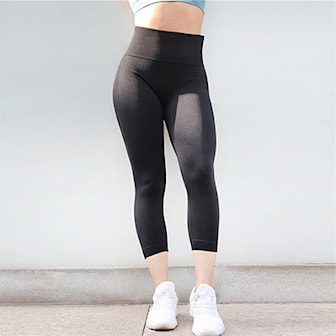 Svart, L, Sport Tights High Waist, Träningstights med hög midja, ,