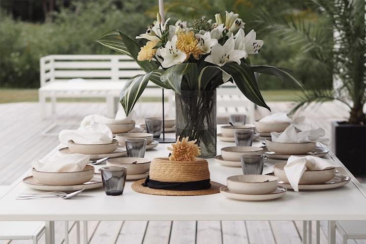 Hermia Pearl tallerkensett 24 deler