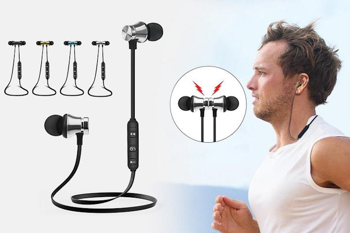 Magnetiska hörlurar med Bluetooth