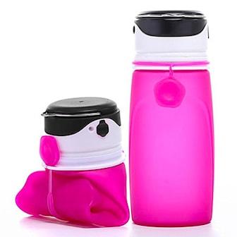 Rosa, LED Rechargeable Water Bottle, Drickflaska med LED-ljus, ,