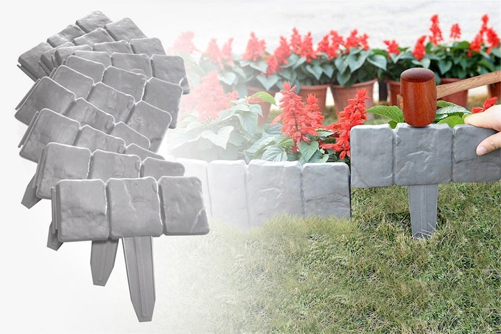 Trädgårdsdekoration skifferimitation 5-, 10-, 15- eller 20-pack