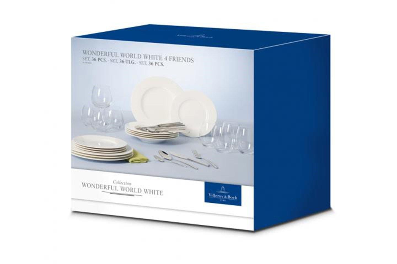 Villeroy & Boch Wonderful World White porselen 36 deler