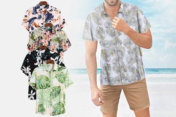 Mønstret skjorte til herre
