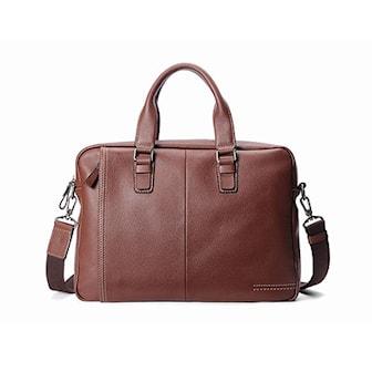 Brun, Landscape Tote Style Bag, Landscape axelremsväska i läder, ,