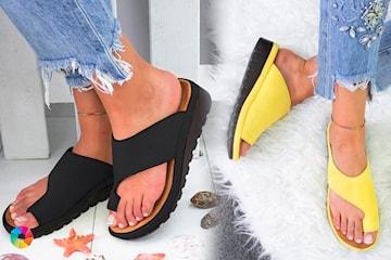 Sandaler med åpen tå