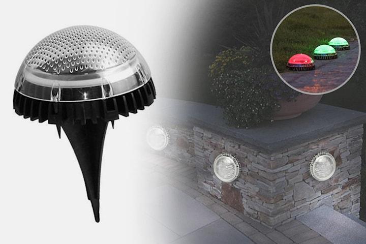 Solcellslampa för marken och väggen