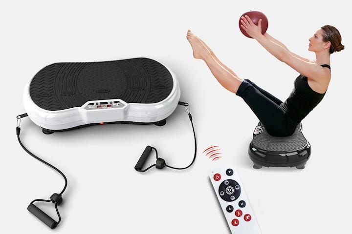 Letix VS-200DPRO vibrationsplatta med fitnessband och högtalare