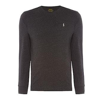 Svart, L, Ralph Lauren Long Sleeve T-shirt Mens, Ralph Lauren långärmad tröja i herrmodell, ,